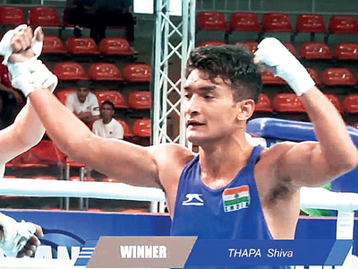 Thapa in semis of Olympic test event for boxing
