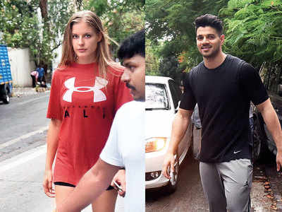 Sooraj Pancholi spotted with a mystery girl outside a salon
