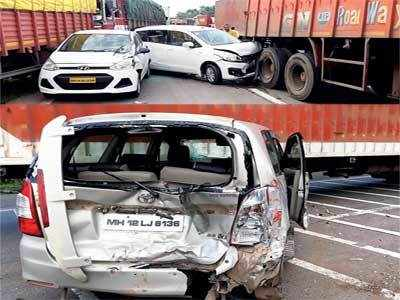 Traffic hit on Mumbai E-way after 2 accidents