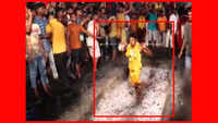 Hundreds of devotees walk barefoot over bed of hot embers in Jalandhar