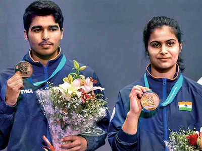 Duo Manu Bhaker, Saurabh Chaudhary win gold in 10m Air Pistol for India against China