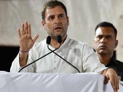 Congress President Rahul Gandhi addresses rally in Rajula