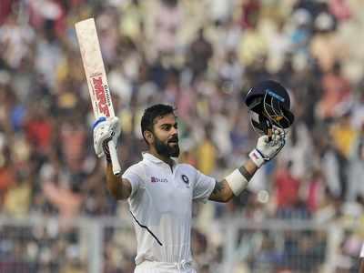 Day-night Test: Virat Kohli registers 27th Test century