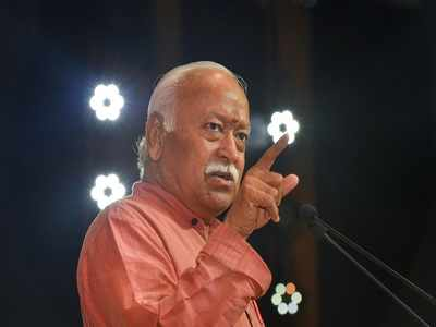 RSS chief Mohan Bhagwat performs 'shastra' puja at Dussehra event