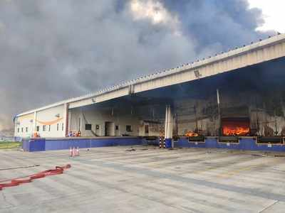 Major fire at Japanese firm at Sanand GIDC in Ahmedabad