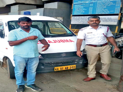 Bengaluru ambulance driver held for using vehicle as cab