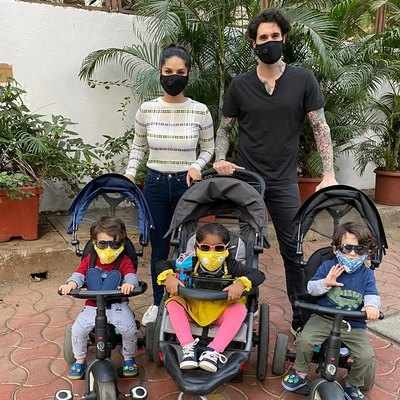 """""""We end up being just like our parents!"""" says Sunny Leone, as she spends Mother's Day, in lockdown with her kids"""
