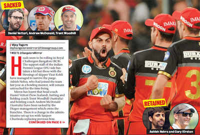 IPL: Daniel Vettori, Trent Woodhill, Andrew McDonald sacked as RCB looks for Kohli-fied team