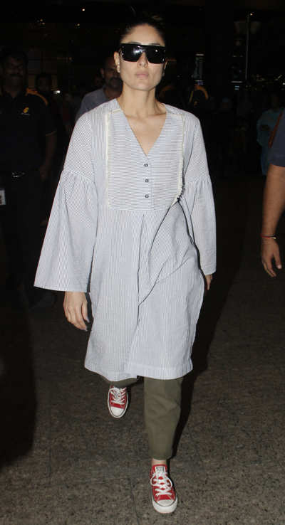Snapped: Kareena Kapoor Khan returns to Mumbai with sleepy Taimur Ali Khan