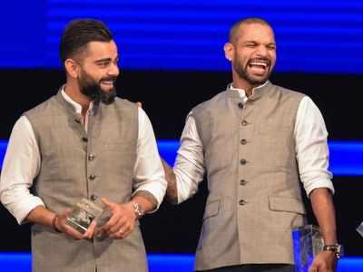 Watch: Shikhar Dhawan pulls Virat Kohli's leg, reveals his dressing room playlist