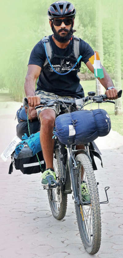 Animal right activist Rohit Ingle embarks on India tour on cycle to promote veganism