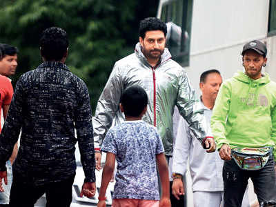 Abhishek Bachchan spotted at Film City in Goregaon