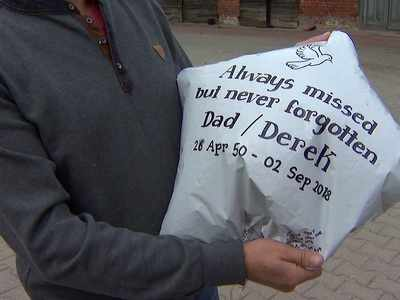 Balloon sent in memory of British dad lands in Polish field