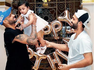 Ajinkya Rahane celebrates daughter Aarya's first birthday in Dubai with Delhi Capitals teammates