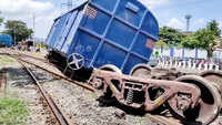 Goods train derails in Visakhapatnam, no one injured