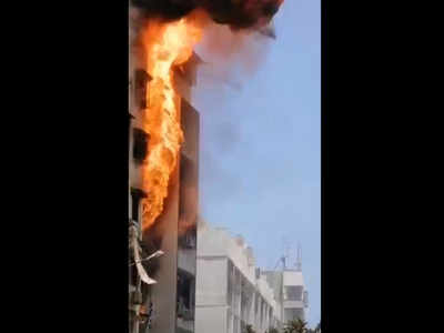 Cylinder blasts in an apartment in Yari Road, no casualties reported
