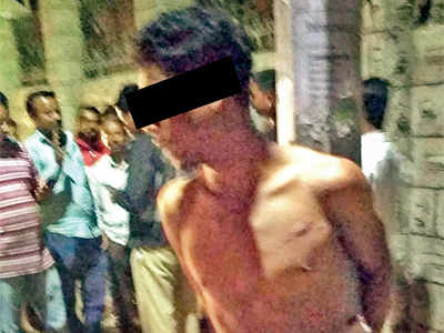 Believed to be mentally ill, man tied to pole, beaten by a mob