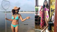 Padma Lakshmi sets internet ablaze with bikini-clad pics