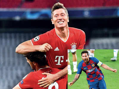 Bayern in CL quarters after cruising past Chelsea; Messi inspires Barca win