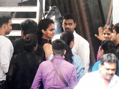 Kangana Ranaut spotted at a studio in Goregaon
