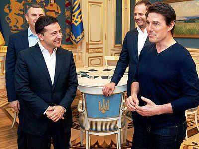 'You're good-looking: Ukraine's leader woos Tom Cruise