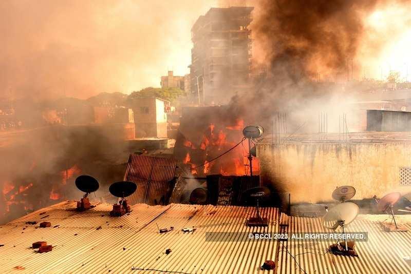 Fire at Patil Estate