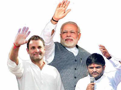 Gujarat Elections 2017: It's raining rallies in Ahmedabad on Monday