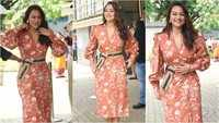Sonakshi looks stunning as she exudes elegance in blush red ensemble