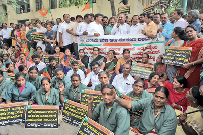 A heavy price to pay: BBMP releases salaries a day after one of its workers killed himself for not being paid