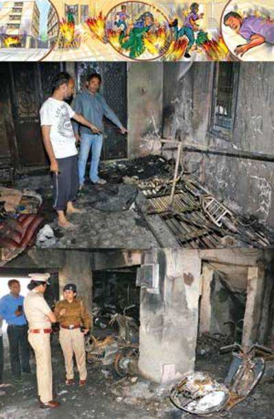 Ranip fire engulfs woman, son