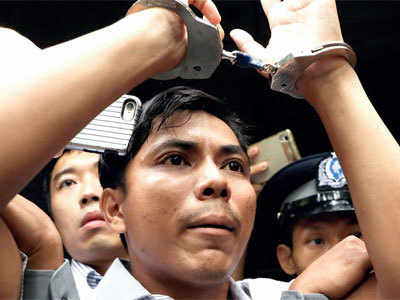 2 journalists jailed for seven yrs in Myanmar