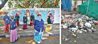 Workers blocked, threat of open dumping looms large