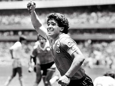 Hand of God strikes again: Maradona now