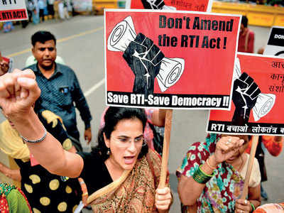 RTI Bill passes RS test as Congress walks out