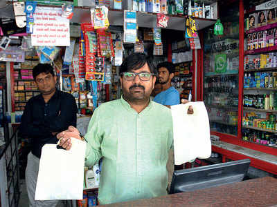 Ignorant AMC officials seize bio-degradable bags, issue notices
