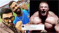 Ranveer Singh gets warning from WWE wrestler Brock Lesnar for using his catchline!