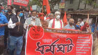 Bharat Bandh: Normal life disrupted as left parties join strike in West Bengal