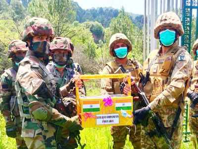 Armies of India, Pakistan exchange sweets at LoC on occasion of Eid-Ul-Fitr