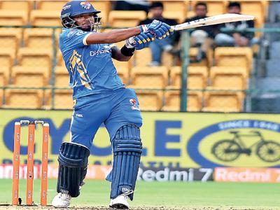 Karnataka Premier League 2019: Bengaluru Blasters edge Ballari Tuskers on VJD rule