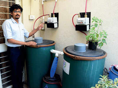 Man eliminates LPG use by turning soc's trash to fuel