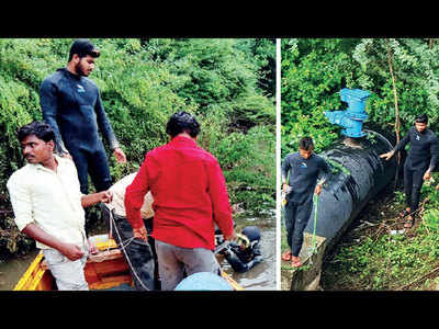 PMC deploys scuba divers to fix faults in 20-foot pipeline