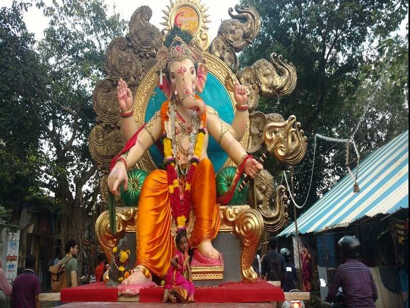 The festival goes on for this Bappa