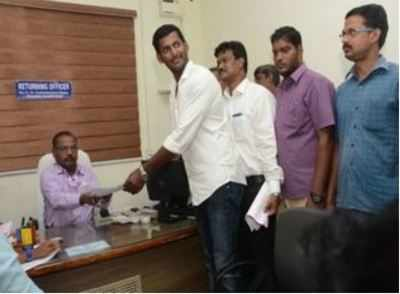R.K.Nagar by-poll: 'Democracy died,' says actor Vishal after his nomination papers rejected amid high drama