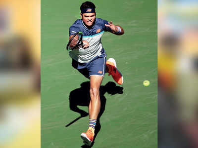 Raonic makes it 2 Canadians into semifinals in Indian Wells
