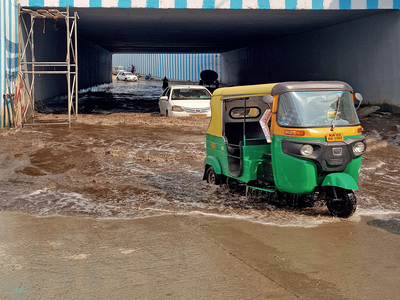 One week after rains, Kodigehalli underpass is still waterlogged