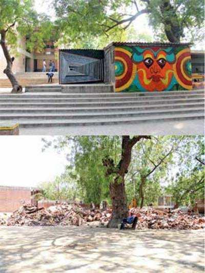 CEPT univ demolishes students' 'free zone'
