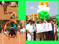 CISF Raising Day in Visakhapatnam: Rescue demonstrations including dog operations displayed