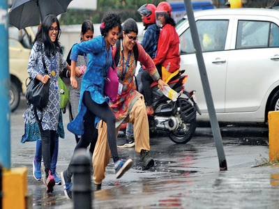 Evening showers catch Bengaluru by surprise