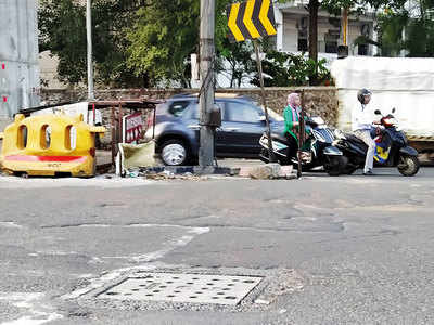 Broken manhole cover on Karve Road fixed