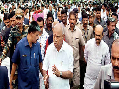 Coronavirus: After restricting mass gatherings, CM BS Yediyurappa attends wedding which had 2,000 guests